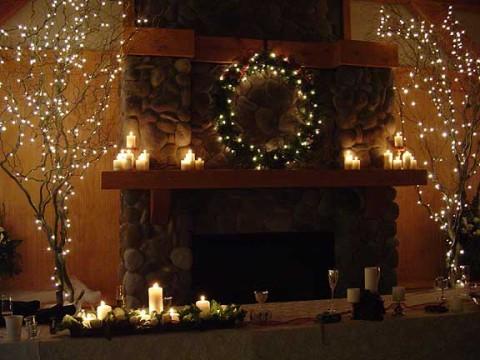 Christmas Wedding Table Decoration